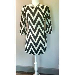 Chevron dress NWOT